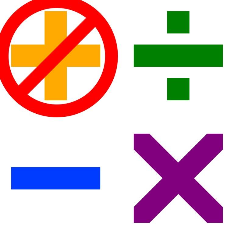 arithmetic symbols