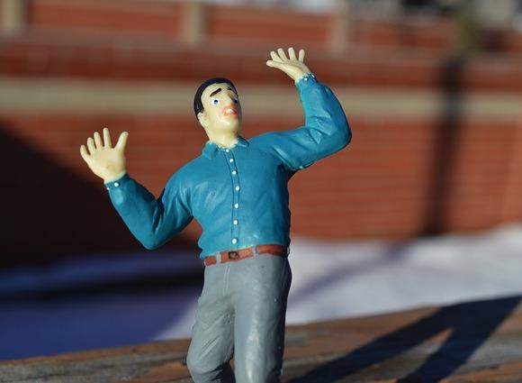 fearful male figurine