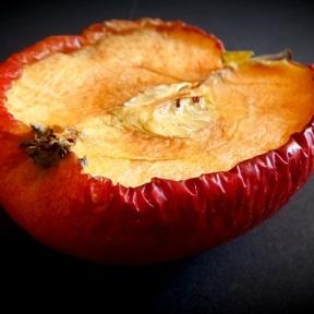 dried half apple