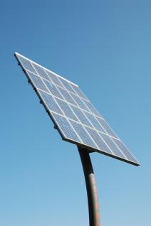 solar panel on a pole