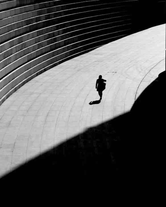 person and shadow