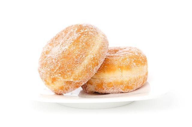 two sugar donuts