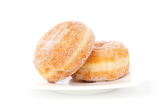 two sugar donuts