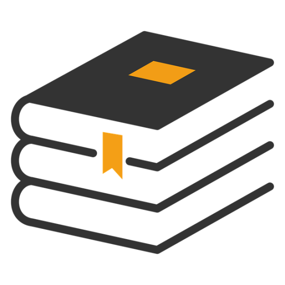 drawing of stack of three books