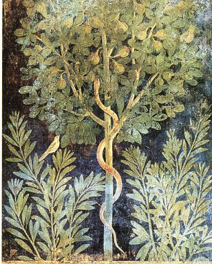 fig tree with serpent painting