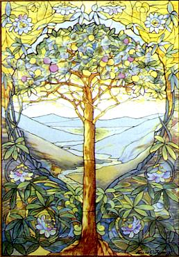 tree of life stained glass