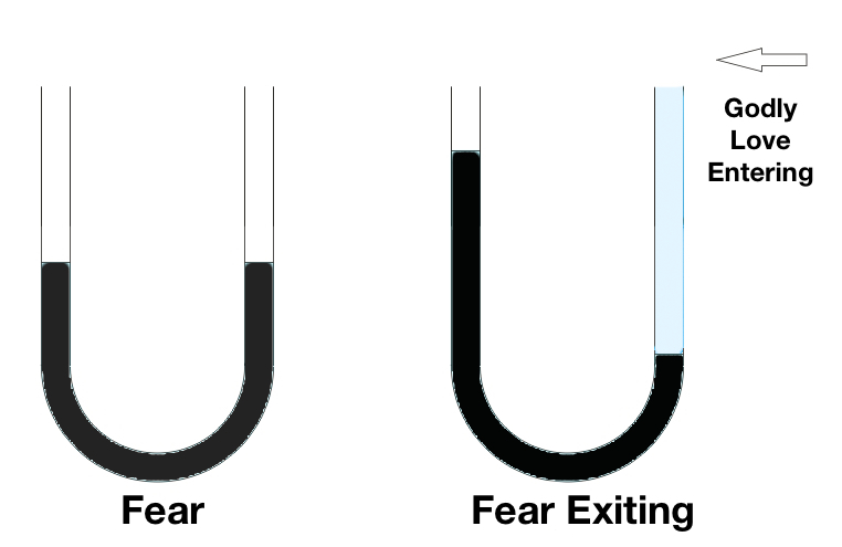 U shaped tube showing fear and fear exiting
