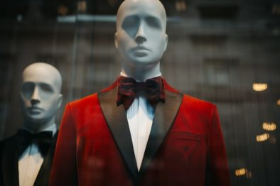 mannequin with red suit