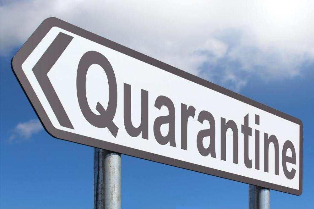 quarantine highway sign