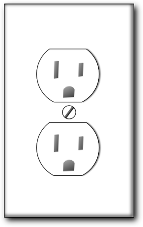 drawn image of (US) electrical outlet