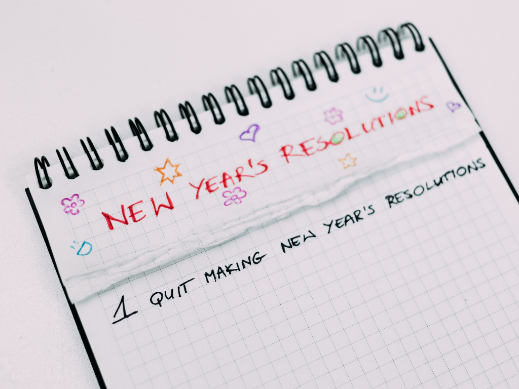New year's resolutions on spiral bound graph paper
